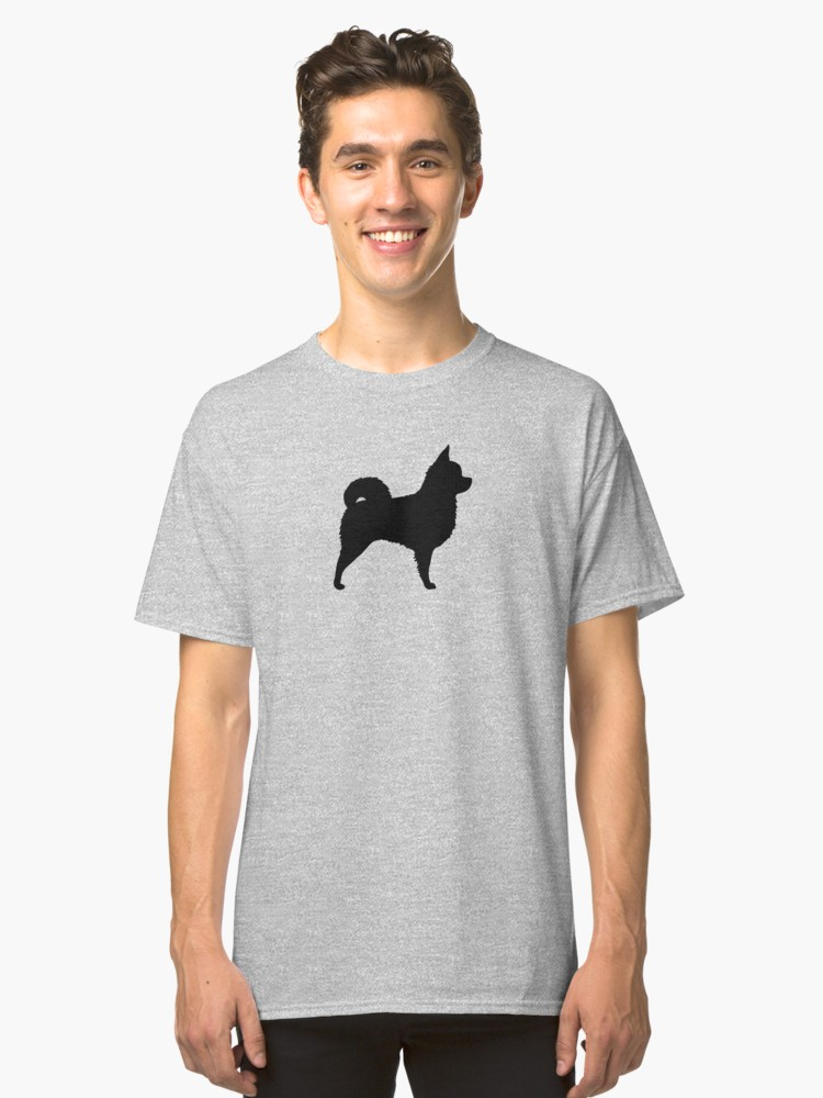 750x1000 Long Haired Chihuahua Silhouette(S) Pullover Hoodie By