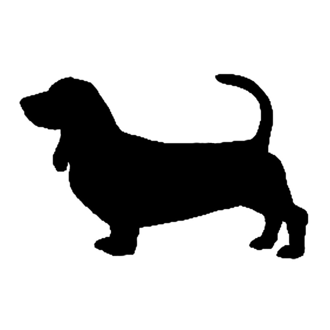 Long Haired Dachshund Silhouette
