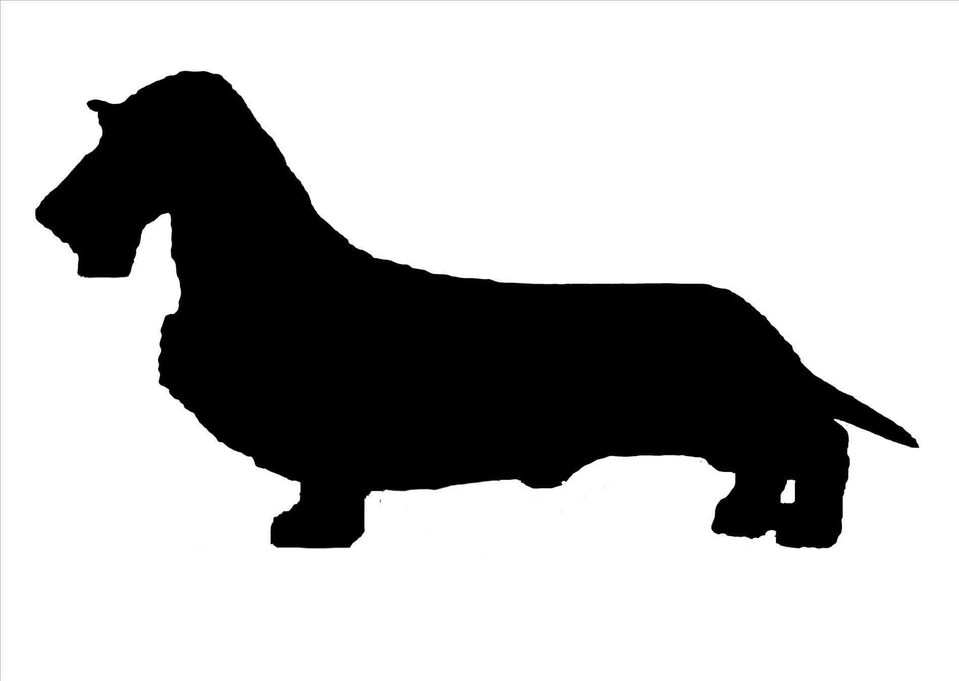 Long Haired Dachshund Silhouette at GetDrawings.com | Free for ...