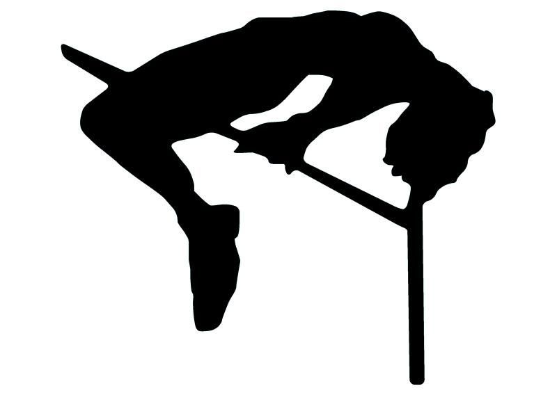 800x565 High Jump Track And Field Silhouette