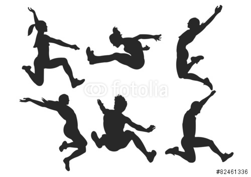 500x354 Long Jump Silhouette Images
