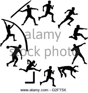 300x320 Long Jump Silhouettes Set Stock Vector Art Amp Illustration, Vector