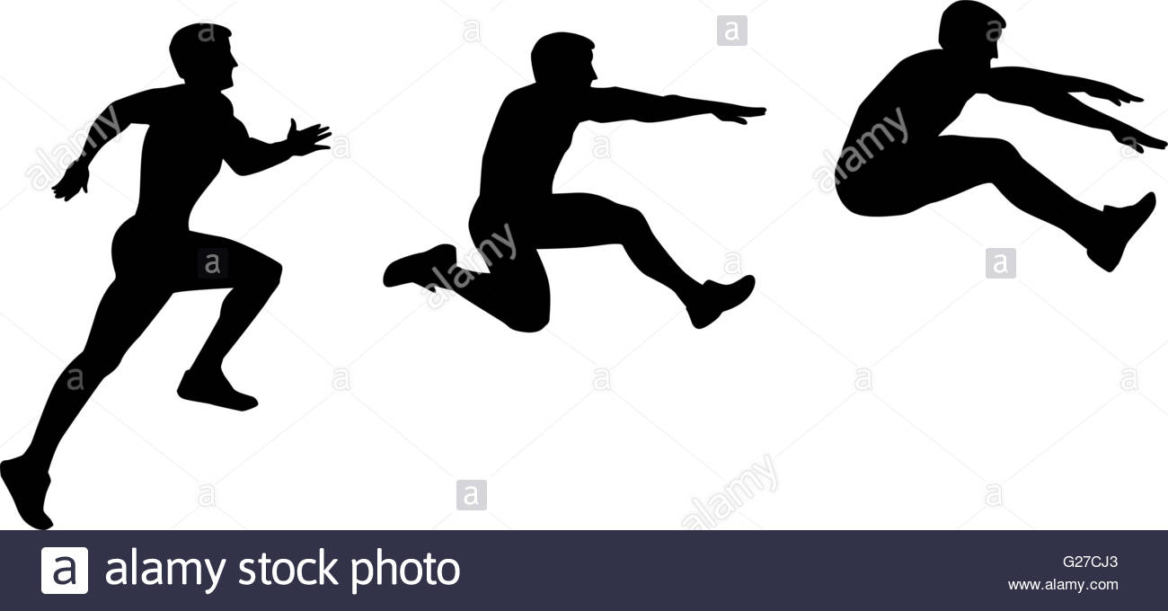 1300x680 Long Jump Sequence Stock Vector Art Amp Illustration, Vector Image
