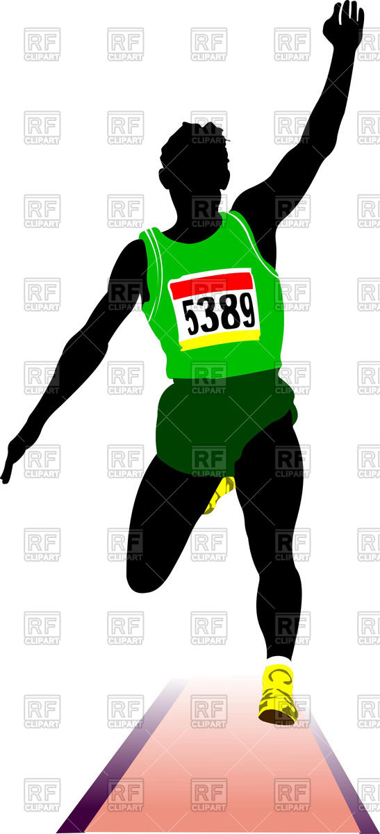 547x1200 Long Jump Athlete Silhouette Royalty Free Vector Clip Art Image