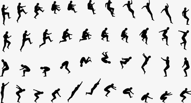 650x351 Creative Man Jumping Movement, Sports, Long Jump, Increase Png