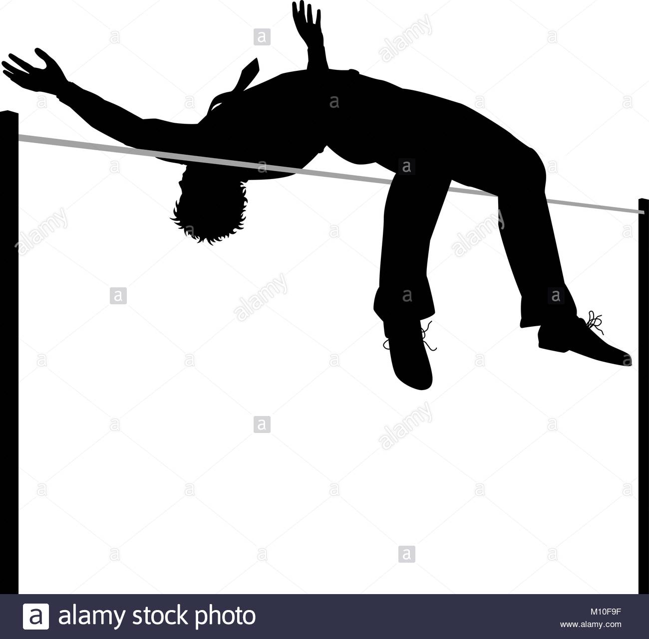 1300x1281 High Jump Stock Vector Images