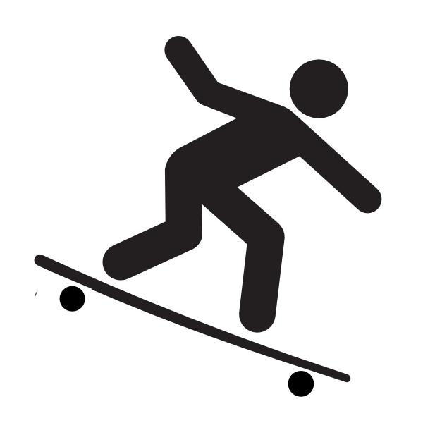 600x600 Longboarding Clip Art