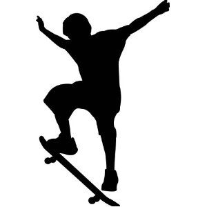 300x300 Skateboard Silhouette Boys' Room. Skateboard