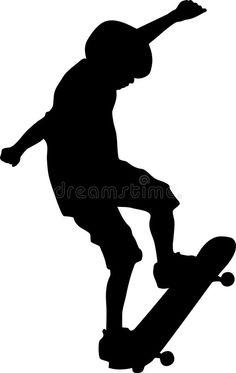 236x373 Silhouette Skateboarder