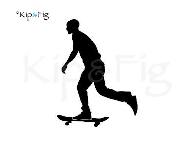 400x336 Skateboarder Silhouette For Ben Silhouettes