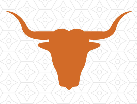 570x433 Longhorn Bull Silhouette Design, Svg, Dxf Vector Files For Use
