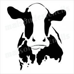 250x250 Cow Head Silhouette 12x12 Stencil Cow Head, Cow And Stenciling