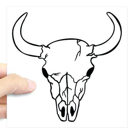 460x460 Longhorn Skull Decal Cow Bull Skull Silhouette Flourish Western