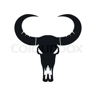 320x320 Buffalo Skull Stock Vector Colourbox