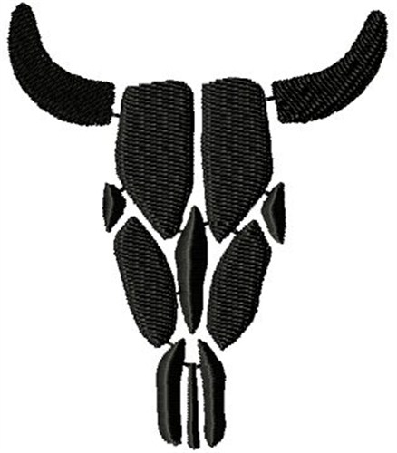 438x500 Bull Skull Silhouette