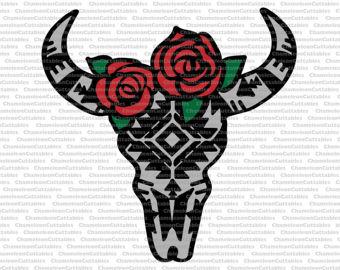 340x270 Bull Skull Paper Cut Etsy