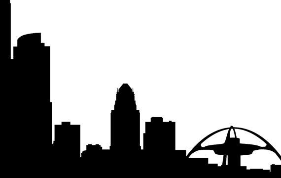570x360 Los Angeles Skyline Silhouette Printable Skyline Los