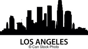 300x167 Los Angeles Skyline Vector Clipart Illustrations. 215 Los Angeles