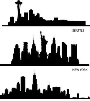 313x352 Seattle Skyline Silhouette Free Vector Download 377113 Cannypic