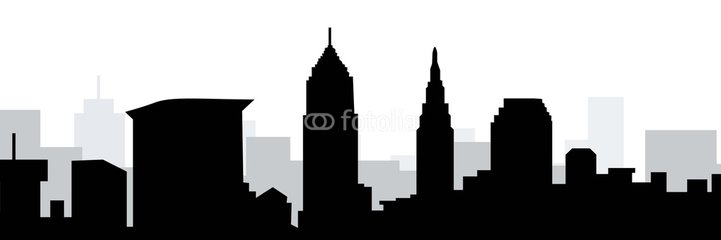 721x240 Free Cleveland Skyline Vector, Hanslodge Clip Art Collection