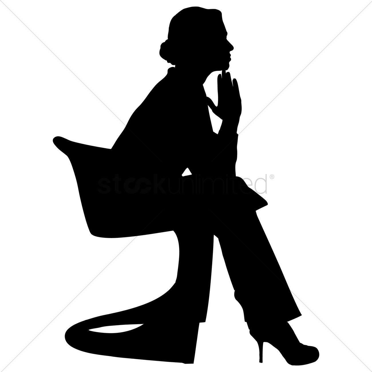 1300x1300 Free Silhouette Of A Woman Vector Image