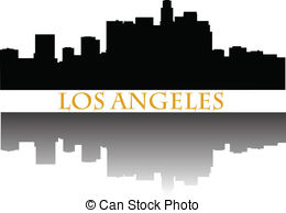 260x194 Los Angeles Skyline Vector Clipart Illustrations. 216 Los Angeles