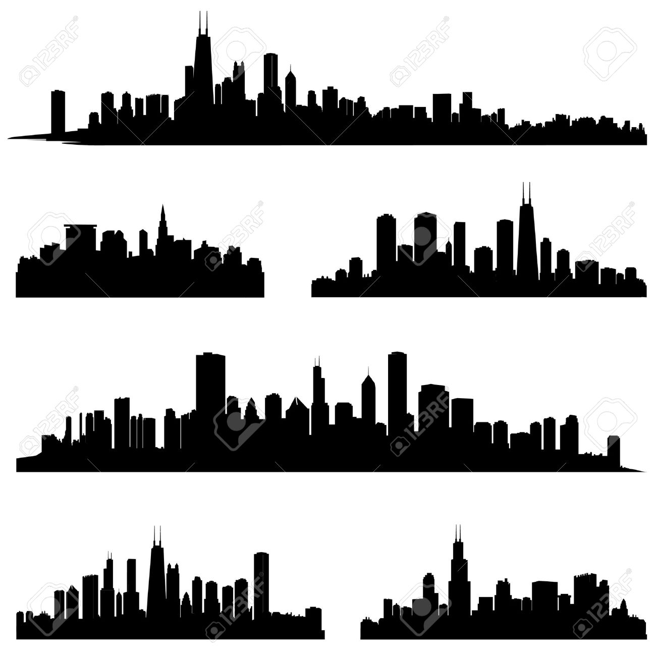 1300x1300 Panorama Clipart Cityscape