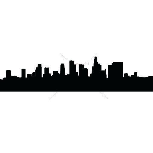 506x506 Los Angeles Skyline Silhouette Or Ca Skyline Vinyl Decal Medium