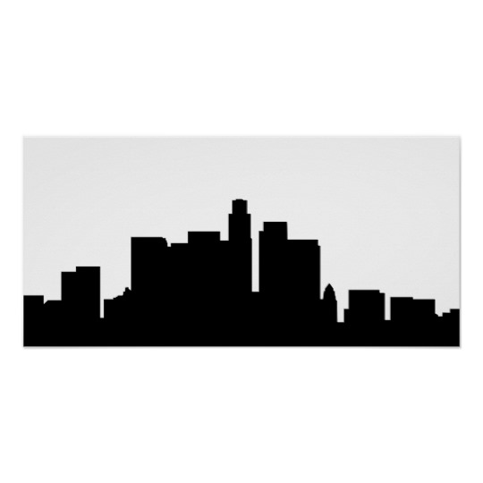 540x540 Los Angeles Skyline Silhouette America Poster