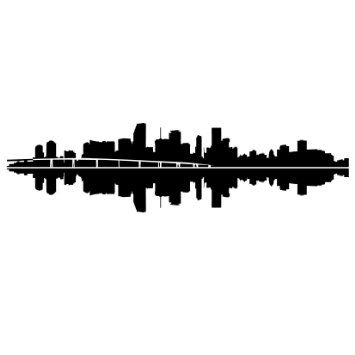 355x355 Buy Los Angeles Skyline Silhouette, Small, Black