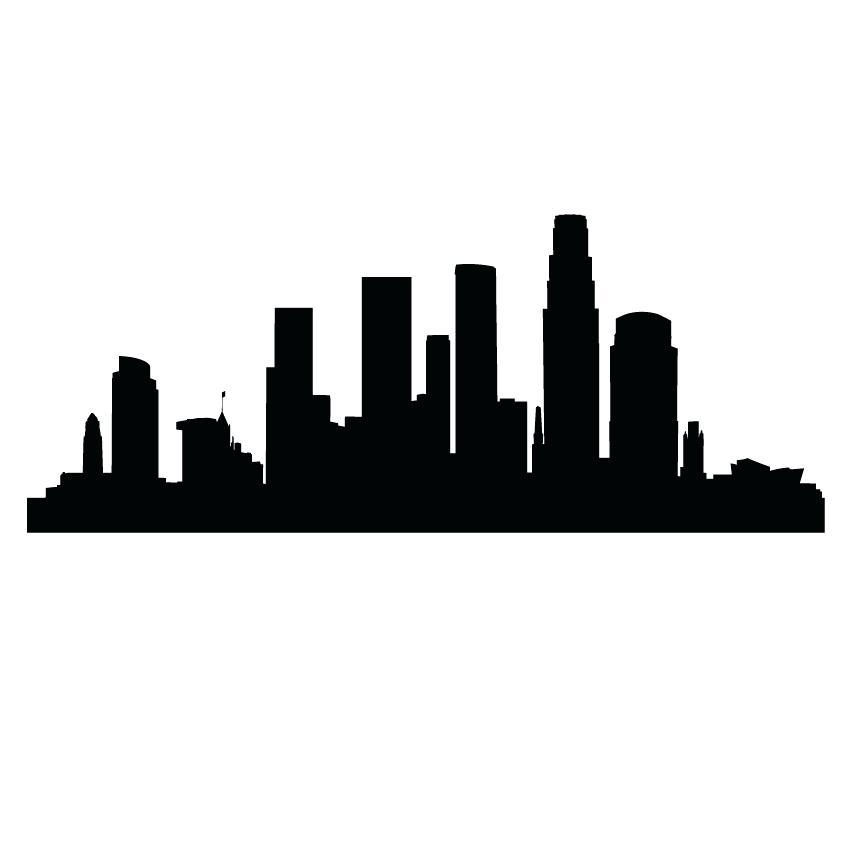 850x850 Los Angeles Skyline Silhouette As Well As Skyline B Vector Los