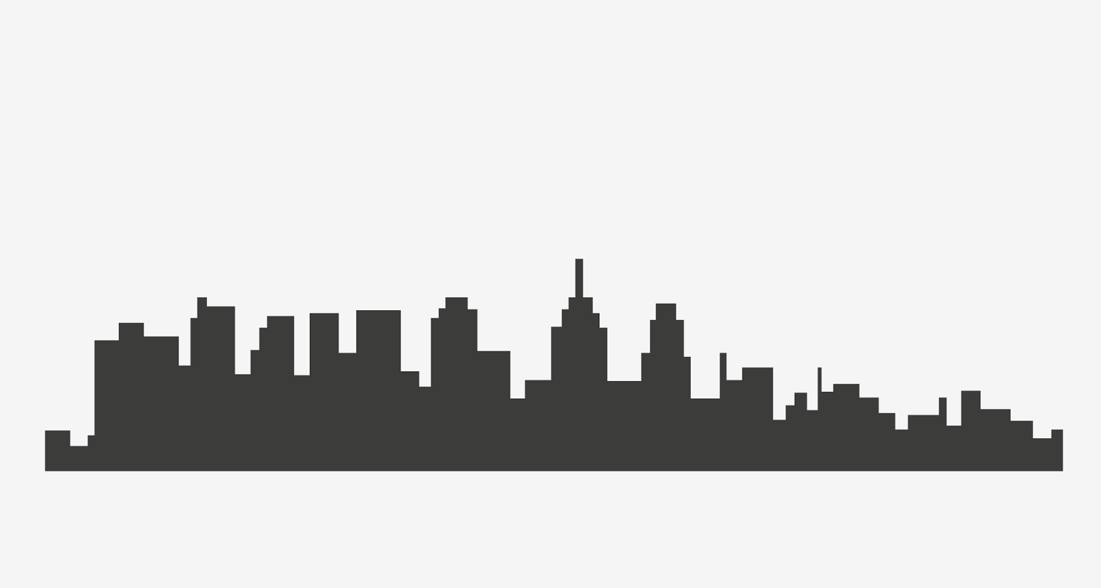 los angeles skyline silhouette vector at getdrawings com free for