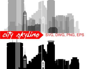 340x270 Dallas Vector Skyline Dallas Svg Silhouette Svg Dxf Eps