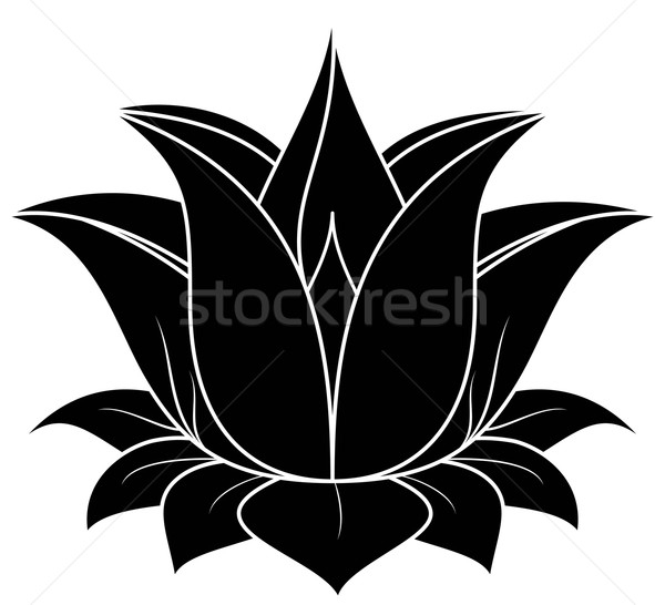 600x546 Lotus Flower Silhouette Lotus Flower Silhouette Vector