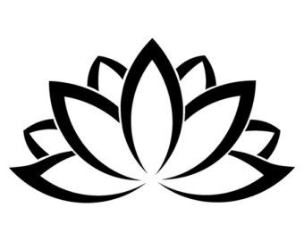 Lotus Flower Silhouette At Getdrawingscom Free For Personal Use