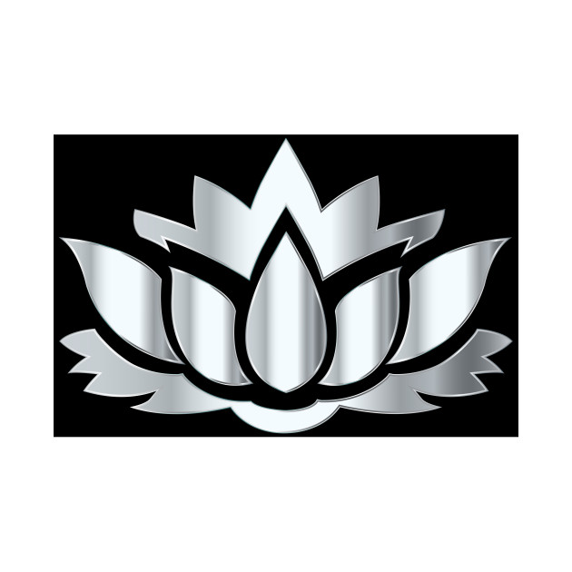 630x630 Limited Edition. Exclusive Silver Lotus Flower Silhouette