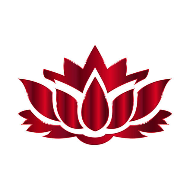 630x630 Limited Edition. Exclusive Vermillion Lotus Flower Silhouette No