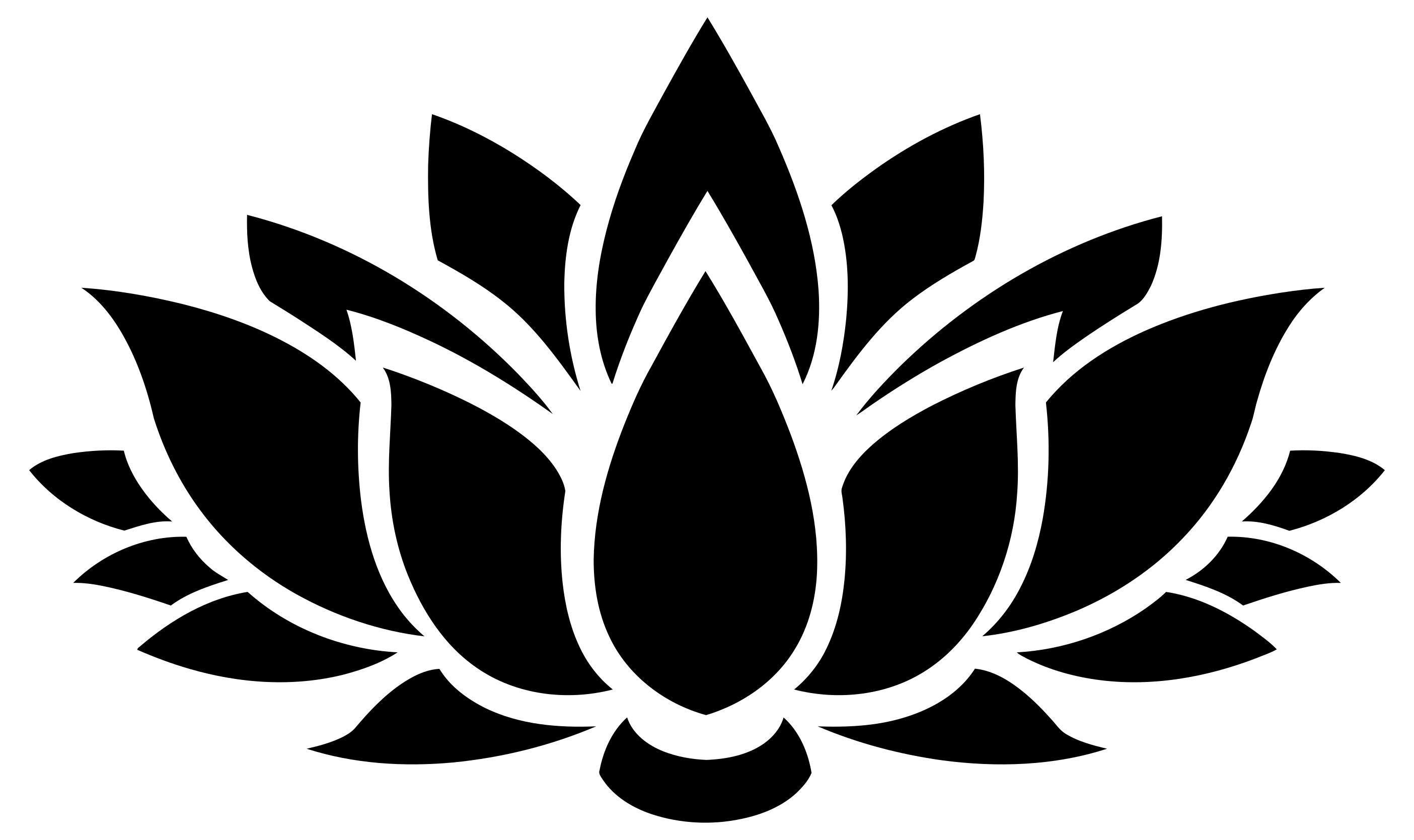 2809x1669 Lotus Flower Silhouette 6 Clipart