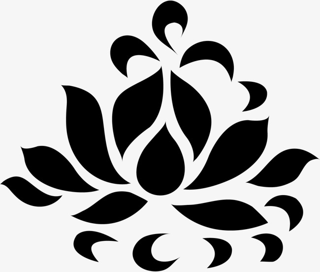 650x552 Lotus Silhouette, Lotus, Hand Painted Lotus, Lotus Cartoon Png