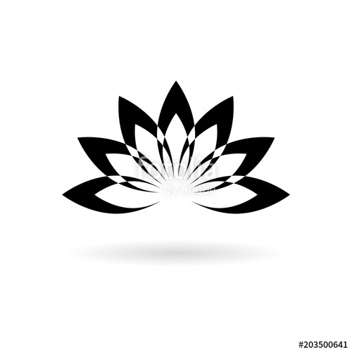 500x500 Lotus Plant, Lotus Silhouette Icon Stock Image And Royalty Free