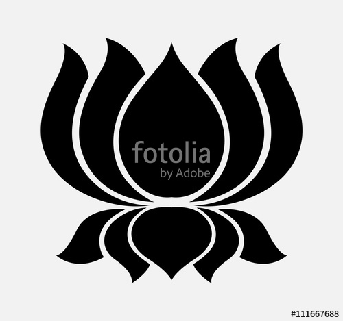 500x469 Silhouette Of Lotus Flower Stock Image And Royalty Free Vector