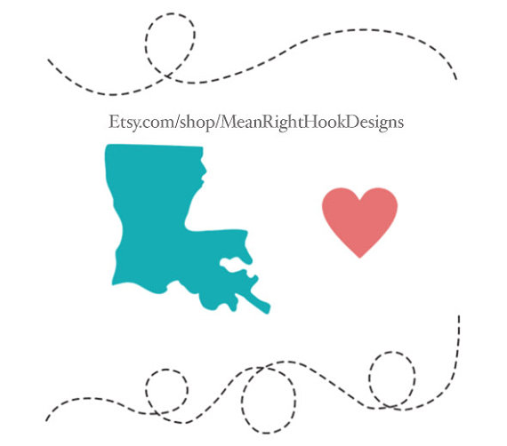 570x502 Louisiana Svg, State Svg, Silhouette, Heart Svg, And Dotted Lines