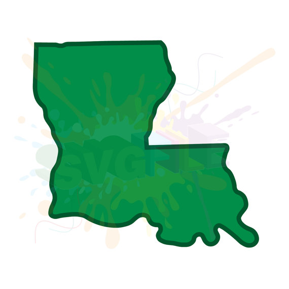 570x570 Louisiana Svg Files For Cutting Southern Cricut State Designs
