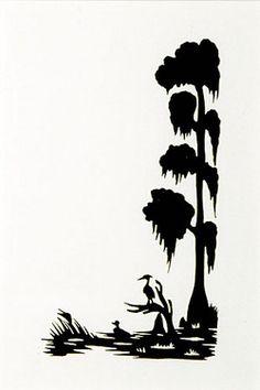 236x354 Louisiana Swamp Scene, Cut File Clip Art, Silhouette, Cricut