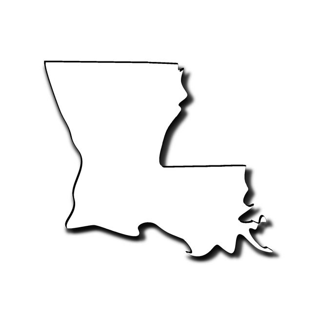 650x650 Louisiana Outline