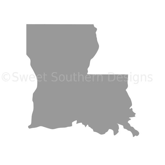 570x570 Louisiana Outline Svg Instant Download Design For Cricut