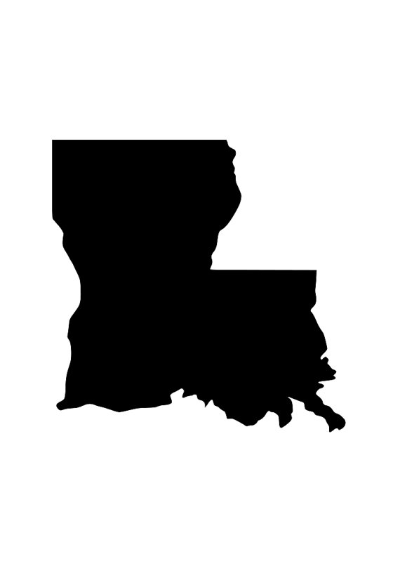 570x806 State Of La Louisiana Outline Laptop Cup Decal Svg Digital