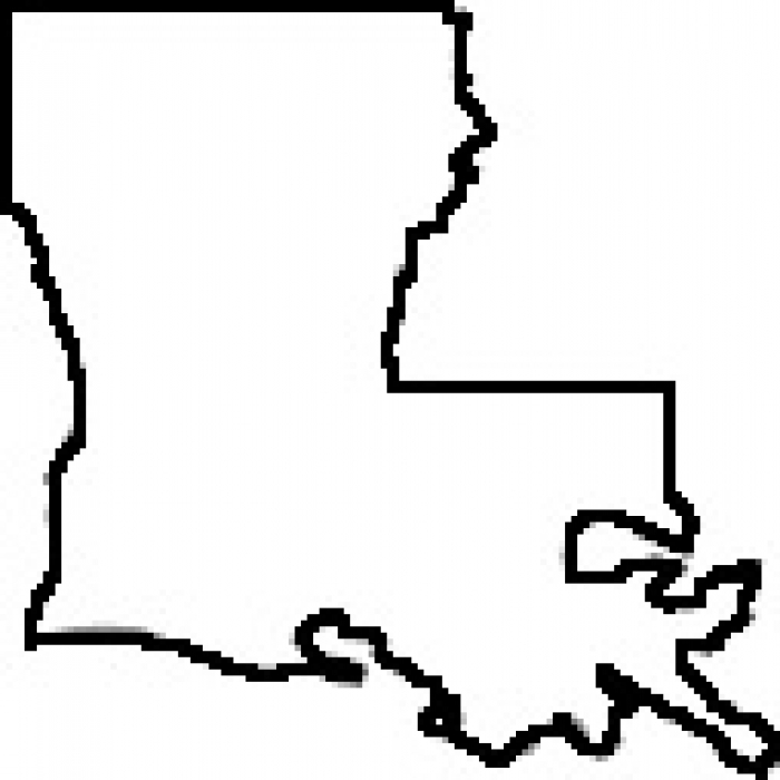 700x700 Louisiana State Map Outline