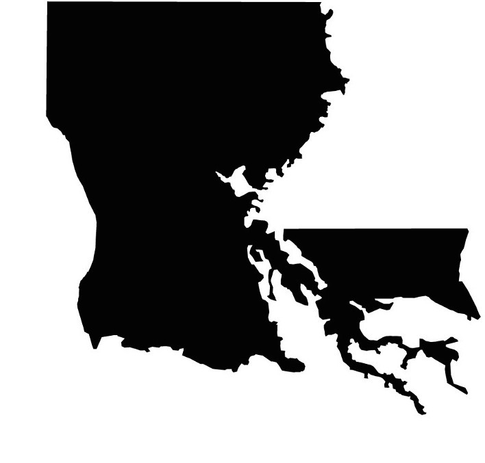 708x677 Louisiana, The Boot Shaped State, Isn'T Shaped Like A Boot Anymore