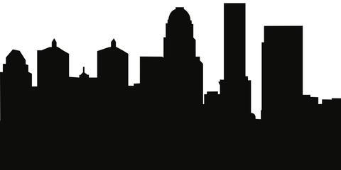 480x240 Louisville, Kentucky Skyline Silhouette Cityscape Purses